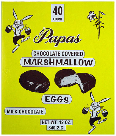 Papas Milk Chocolate Covered Marshmallow Eggs 40CT Box