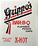 Grippos X Hot BBQ Potato Chips (1.5lb Box)