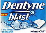 Dentyne Blast Winter Chill 10 - 9pc pkgs