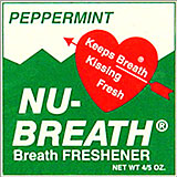 Nu Breath Peppermint Breath Freshener 12ct Box