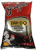 Grippos BBQ Potato Chips pp. $.99 (24 - 1 3 - 4oz Foil Bags)