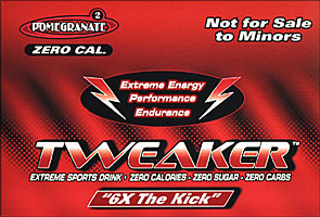 Tweaker  - Pomegrante - 6X The Kick 12 - 2FL oz Bottles