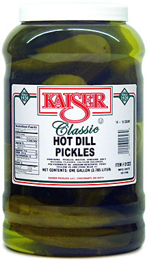 KAISER HOT DILL PICKLES - GALLON