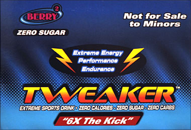 Tweaker  - Berry - 6X The Kick 12 - 2FL oz Bottles