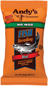 Andys Seasoning Red Fish No MSG Breading 10oz Bag