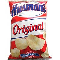 Husmans Plain Potato Chips (42 1oz Bags)