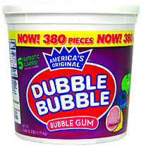 Dubble Bubble Assorted 380 Count Tub