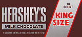 Hersheys Milk Chocolate King Size 18CT Box