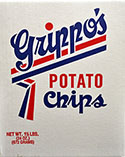 Grippos Plain Potato Chips (1.5lb Box)