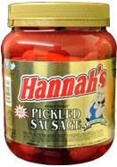 Hannahs Pickled Sausage 32oz. Jar