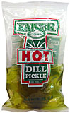 Kaiser Hot Dill Pouch Pickle 12ct