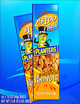 Planters Honey Roasted Peanuts 18 1.75OZ Tubes