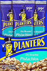 Planters .99 Dry Roasted Pistachios 12 1.75oz Bags