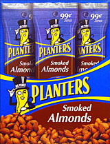 Planters Smoked Almonds 18 1.5oz Tubes