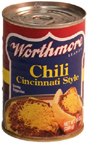 Worthmore Chili Cincinnati Style 10 Ounce Can
