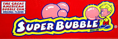Super Bubble Original Flavor Bubble Gum 300ct.
