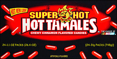 Super Hot Hot Tamales Chewy Cinnamon Candy 24ct Box