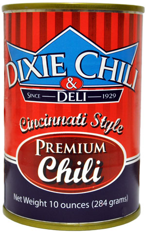 Dixie Chili Cincinnati Style 10 oz. Can