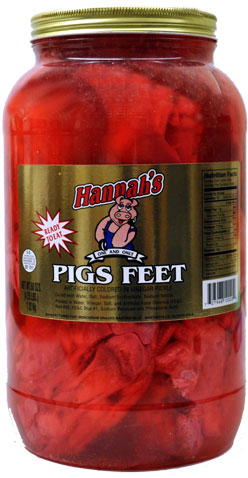 Hannahs Pickled Pigs Feet 4 25lb Jar Candyretailer Com