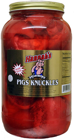 Hannahs Pickled Pigs Knuckles 4 25lb Jar Candyretailer Com