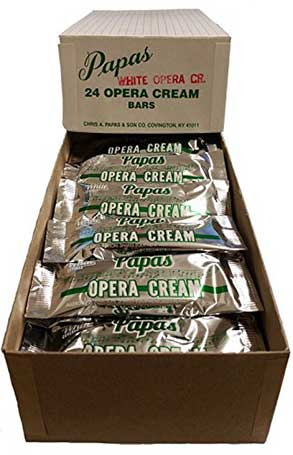 Papas Opera Cream Bars White Chocolate 24ct Box
