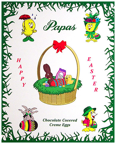 Papas Chocolate Covered Peanut Butter Cream Eggs 24CT Box