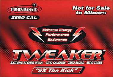 Tweaker Pomegrante 6X The Kick 12 2FL oz Bottles